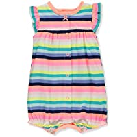 Carter's Baby Girl's Ground Rainbow Snap Up Cotton Romper