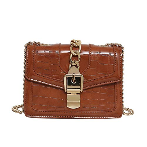Messenger Donna Mkhdd A Borsa Con Vintage Pelle Tracolla Pu Regolabile Brown In Da Catena Borse brown 10wT1gq