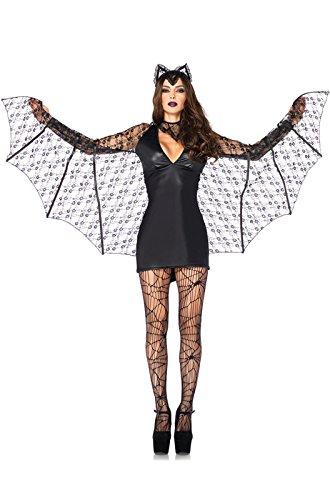 Costumes Halloween For 3 People (Leg Avenue Women's 3 Piece Moonlight Bat Costume, Black,)