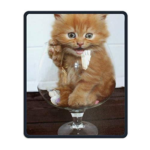 Cute Kitten Mouse Pad Non Slip for Computer, Laptop, Gaming & Office - Durable & Comfortable for Easy Typing & Pain Relief ()