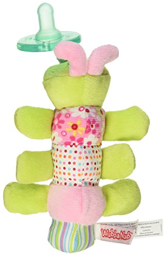 Mary Meyer WubbaNub Soft Toy and Infant Pacifier, Cutsie Caterpillar ()