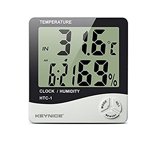 Keynice® Weather Thermometers, Indoor Humidity Thermometer Wall Mount Monitor Sensor Thermostat Home Office, digital indoor thermometer with memory, HTC-1