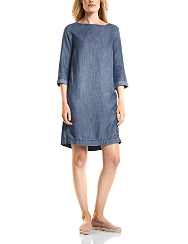 Cecil Used Wash Mid Kleid Damen Blau 10320 Blue qFXqfrn