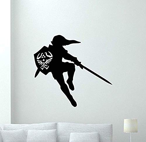 Legend of Zelda Wall Decal Princess Link Gift Gaming Gamer Movie Video Game Poster Vinyl Sticker Kids Teen Boy Room Nursery Bedroom Wall Art Decor Mural 155PS - Legends Office Furniture