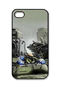 Iphone 4 4s PC Hard Shell Case Artistic Military Black Skin by Sallylotus