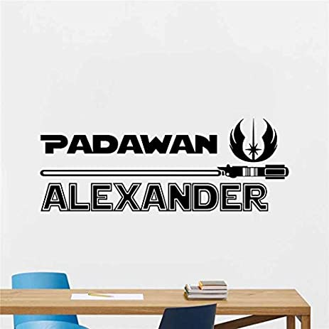 Amazoncom Star Wars Padawan Personalized Custom DieCut Vinyl - Custom die cut vinyl wall decals