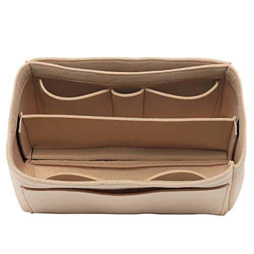 [New Style] Felt Insert Bag Organizer Purse Organizer, Handbag Bag in Bag for Speedy Neverful Longchamp, 3 Sizes by AJAY