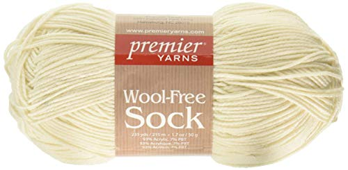 Premier Yarns Cream Wool-Free Sock Yarn