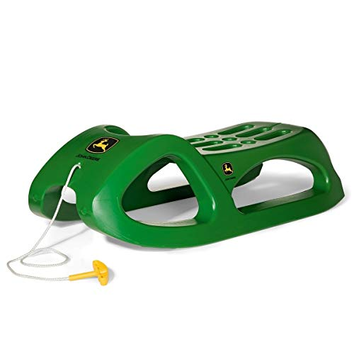 rolly toys John Deere Sled with Stainless Steel Runners and Tow Handle, Youth to Adult Ages 3+