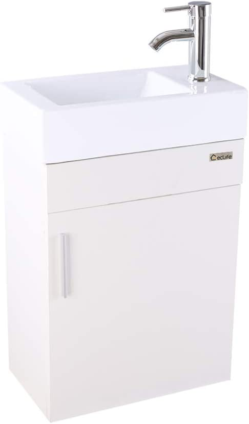 Eclife Bathroom Vanity W Sink Combo 18 4 For Small Space