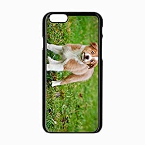iPhone 6 Black Hardshell Case 4.7inch dog puppy color grass watch Desin Images Protector Back Cover