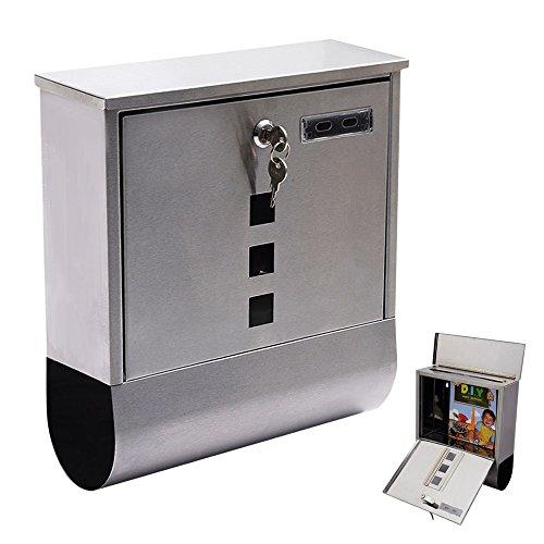 International Silver Di Lido (LTL Shop Wall Mount Silver Mail Box Steel w/ Retrieval Door & 2)