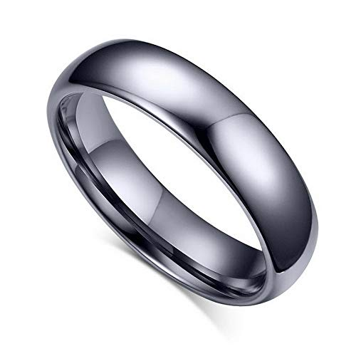 (Waldenn 4mm/6mm Tungsten Steel Wedding Couple Rings Men Womens Silver Jewelry Size 5-14 | Model RNG - 26294 | 10 )