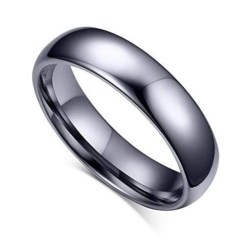 Diva Genuine Ring - Waldenn 4mm/6mm Tungsten Steel Wedding Couple Rings Men Womens Silver Jewelry Size 5-14 | Model RNG - 26295 | 11