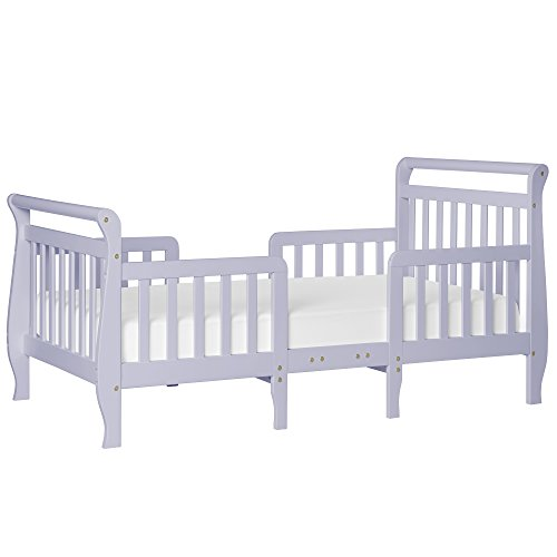 Dream On Me Emma 3 in 1 Convertible Toddler Bed, Lavender Ice