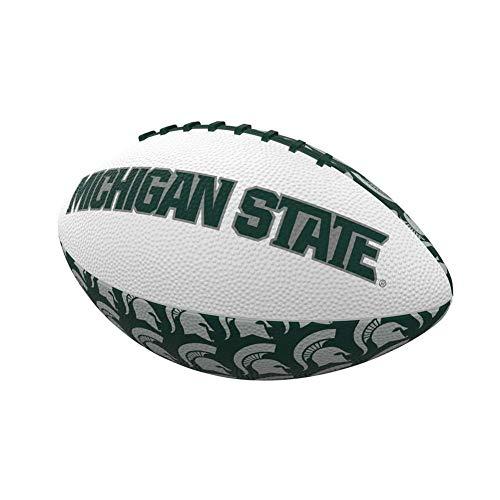Logo Brands NCAA Michigan State Spartans Mini-Size Repeating Football, Multicolor, Miniature