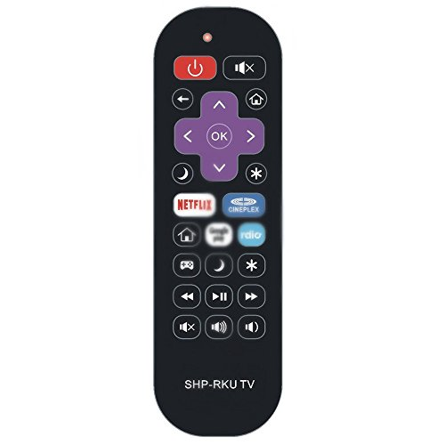 ZdalaMit Replacement Remote Control fit for Sharp Roku Ready TV LC-43LB371U LC-50LB371U LC-43LB371C LC-50LB371C
