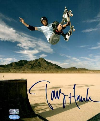 (Tony Hawk Autographed Signed Auto Skateboarding Salt Flats 8x10 Photograph Steiner - Certified Authentic)