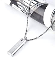 VEAQEE for Flex 2 Bands Jewely Necklace Stainless Steel Accessory Metal Pendant for Flex 2 Tracker