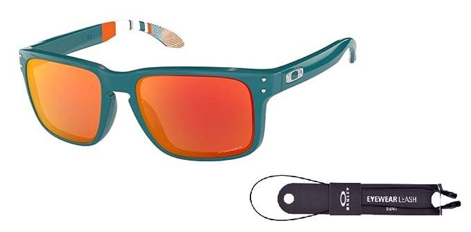 7a3bdea1f4 Oakley Holbrook OO9102 9102G1 57M Aero Balsam Prizm Ruby Sunglasses For Men  For Women+ BUNDLE