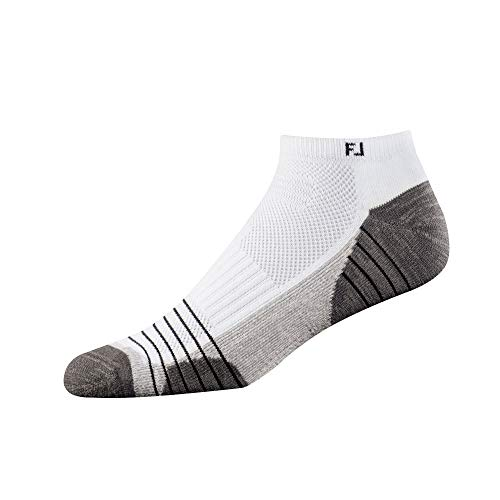 - FootJoy Men's TechSof Tour Low Cut Socks White Size 7-12