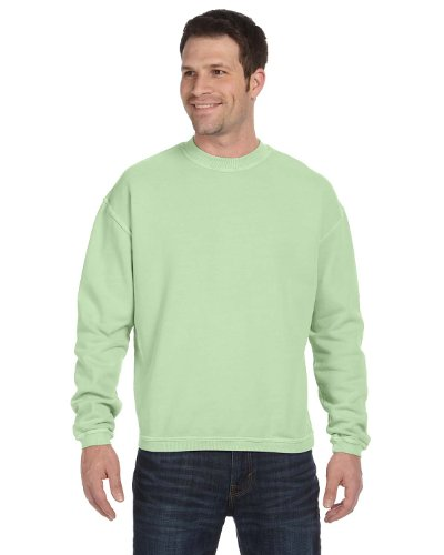 Authentic Pigment 11 oz Pigment-Dyed Ringspun Fleece Crew Sweatshirt 11561 green XX-Large