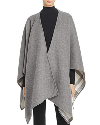 Soft Joie Womens Emmeleia Wool Blend Open Front Cape Sweater Gray O/S