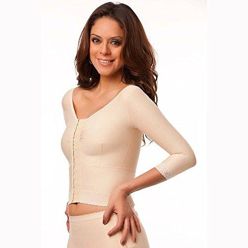 Isavela VS03-MS Waist Length Vest with Medium Sleeves-Large-Black from Isavela