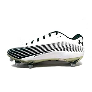 Under Armour Team Nitro II Low Detachable Football Cleats (13, White/Green)