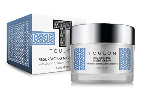 Night Face Cream For Women - Best Natural Face Moisturizer for Dry Skin with Vitamin C, Cocoa Butter & Grapeseed Oil to Build Collagen, Reduce Fine Lines & Firm Neck and Decollete by TOULON (Image #1)