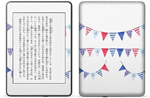 igsticker kindle paperwhite 第4世代 専用スキンシール キンドル ペーパーホワイト タブレット 電子書籍 裏表2枚セット カバー 保護 フィルム ステッカー 015547 旗 飾り デコ