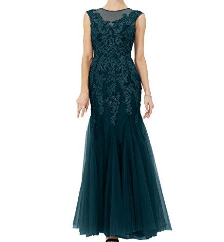 Spitze Abendkleider Applikation Abschlussballkleider mit Damen Ballkleider Charmant Dunkel Tuerkis Tuell Festlichkleider Meerjungfrau 4qxpg5gw