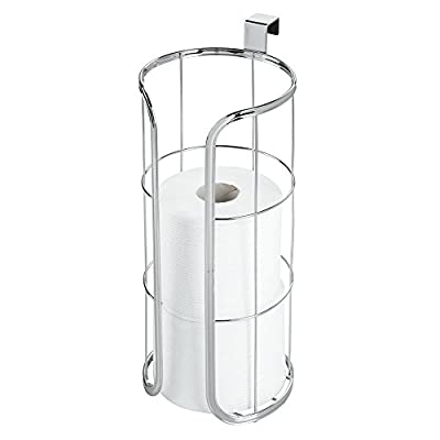 mDesign Metal Over The Tank Toilet Tissue Paper Roll Holder