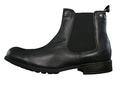ff60bf29088 Base London Copper hommes Cuir Chelsea Ankle Boots - noir - SIZE EU ...