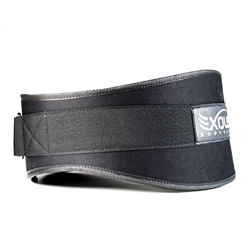 Performance-Weight-Lifting-Belt-55inch-Lumber-Back-Support-Adjustable-Velcro-Ergonomically-Shaped-For-Squats-Power-lifting-Olympic-Lifts-Black