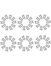 Houssem 10/20/60 st klädhängare anslutningskrokar, halkfri flockning anslutningskrokar för galgar, sammetsgalgar stackare skåp organiserare