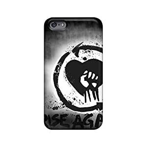 Shock Absorbent Hard Phone Case For Iphone 6plus With Customized Stylish Rise Against Skin IanJoeyPatricia