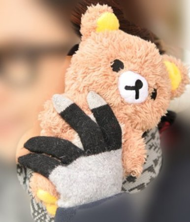 3D Cute Teddy Bear Toy Doll Plush Cover Case For Samsung Mobile Smart Phones 8 (LG LS660 Tribute MS395 D390 Optimus F60 VS810 Transpyre)