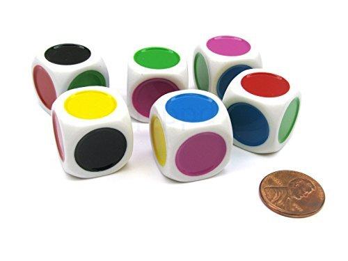 Koplow GamesのD6 シングルスポット B01MXSECQR シングルスポット 20mmダイス-スポットは緑、黄、紫、青、赤、黒 Koplow B01MXSECQR, 柴田郡:50d20c43 --- integralved.hu