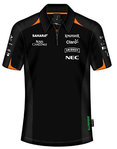 Sahara Force India F1Team Herren Sponsor schwarz Polo-Shirt