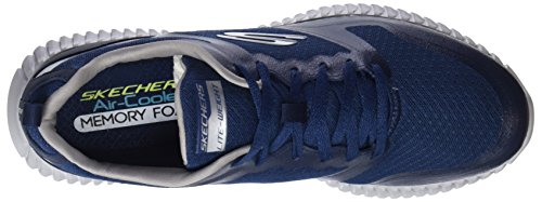 Flex Uomo Blu Infilare Elite Sneaker Grey Skechers Navy qwAS4gx