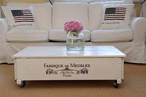 Mesa de centro baúl de madera, mesa auxiliar vintage, estilo ...