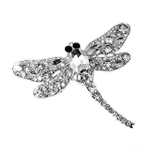 Howiy Womens Brooch Crystal Vintage Dragonfly Brooches for Women Large Insect Brooch Pin Fashion Dress Coat Accessories Cute Jewelry ()