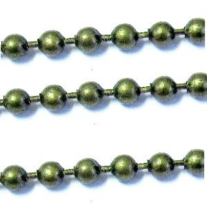 1 meters Bronze Tone Ball Chain 3mm Ball A5437