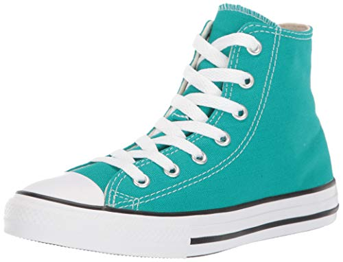 Converse Girls' Chuck Taylor All Star Galaxy Dust Sneaker, Turbo Green/Natural Ivory, 12 M US Little Kid