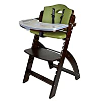 Abiie Beyond Wooden High Chair With Tray. The Perfect Adjustable Baby Highcha...