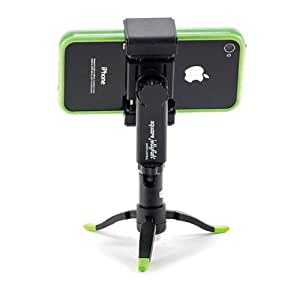 "Square Jellyfish Spring Tripod Mount with Micro Ball Head and Jelly Legs Micro Tripod for Smartphones 2-1/4 - 3-5/8"" Wide, Pocket-Sized"