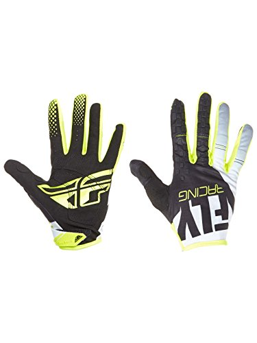 Fly Racing 2018 Kinetic Gloves (MEDIUM) (BLACK/WHITE/HI-VIZ)