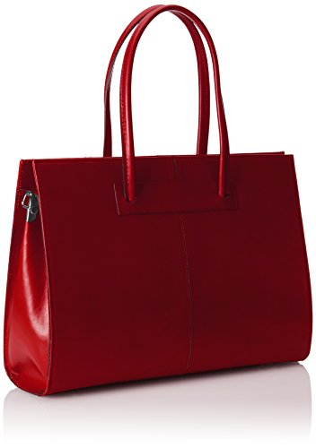 Rosso documenti Pelle in porta 100 cartella donna Borsa Italy Vera Made mano a aBSX74xqw
