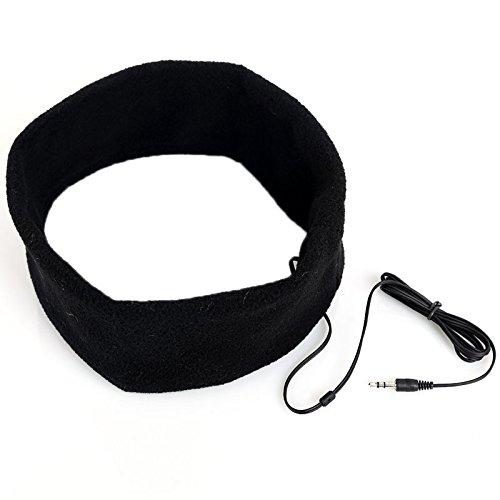 Tenflyer Couchage confortable Novelty souple Casque Sport Bandeau Casque Ecouteurs Noir